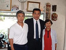 旭道山氏と母と私